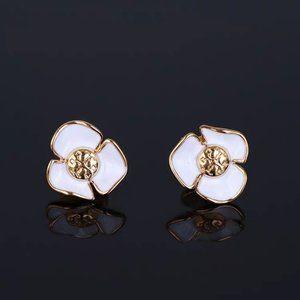 Tory Burch Camellia Enamel Earrings